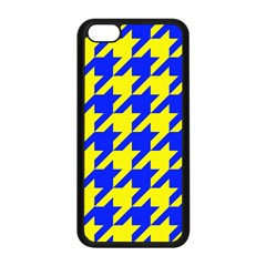 Houndstooth 2 Blue Apple iPhone 5C Seamless Case (Black)