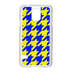 Houndstooth 2 Blue Samsung Galaxy S5 Case (White)
