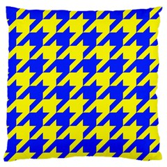 Houndstooth 2 Blue Standard Flano Cushion Cases (One Side)
