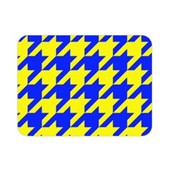 Houndstooth 2 Blue Double Sided Flano Blanket (Mini)