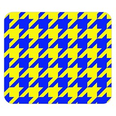 Houndstooth 2 Blue Double Sided Flano Blanket (small)