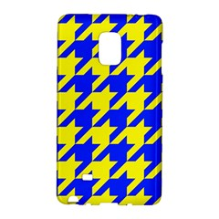 Houndstooth 2 Blue Galaxy Note Edge