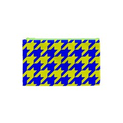 Houndstooth 2 Blue Cosmetic Bag (XS)