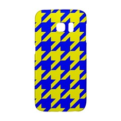 Houndstooth 2 Blue Galaxy S6 Edge