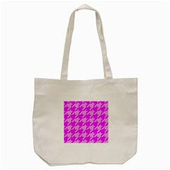 Houndstooth 2 Pink Tote Bag (Cream)