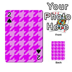 Houndstooth 2 Pink Playing Cards 54 Designs