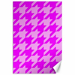 Houndstooth 2 Pink Canvas 20  x 30