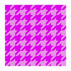 Houndstooth 2 Pink Medium Glasses Cloth (2-Side)
