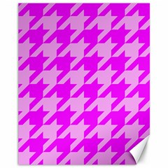Houndstooth 2 Pink Canvas 11  x 14