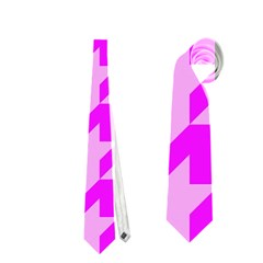 Houndstooth 2 Pink Neckties (Two Side)