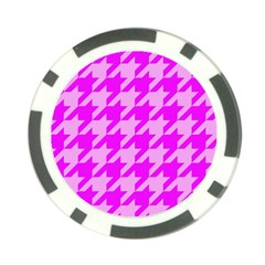 Houndstooth 2 Pink Poker Chip Card Guards