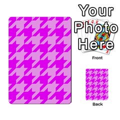 Houndstooth 2 Pink Multi Purpose Cards (rectangle)