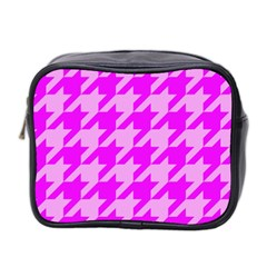 Houndstooth 2 Pink Mini Toiletries Bag 2-Side