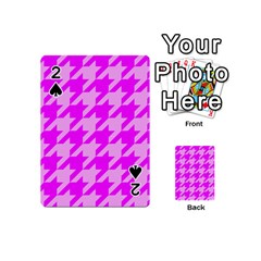 Houndstooth 2 Pink Playing Cards 54 (Mini)