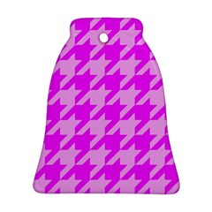 Houndstooth 2 Pink Bell Ornament (2 Sides)
