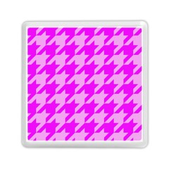 Houndstooth 2 Pink Memory Card Reader (square)