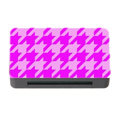 Houndstooth 2 Pink Memory Card Reader with CF