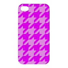 Houndstooth 2 Pink Apple iPhone 4/4S Hardshell Case
