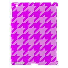 Houndstooth 2 Pink Apple iPad 3/4 Hardshell Case (Compatible with Smart Cover)