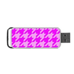 Houndstooth 2 Pink Portable USB Flash (Two Sides)