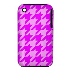 Houndstooth 2 Pink Apple iPhone 3G/3GS Hardshell Case (PC+Silicone)