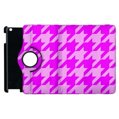 Houndstooth 2 Pink Apple iPad 3/4 Flip 360 Case