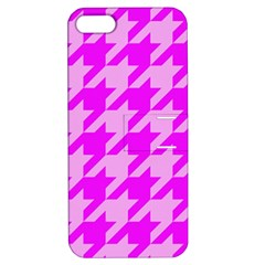 Houndstooth 2 Pink Apple iPhone 5 Hardshell Case with Stand