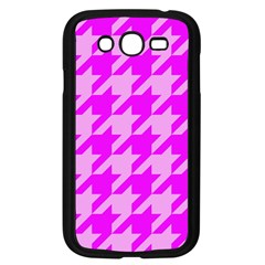 Houndstooth 2 Pink Samsung Galaxy Grand DUOS I9082 Case (Black)