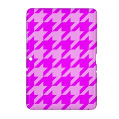 Houndstooth 2 Pink Samsung Galaxy Tab 2 (10 1 ) P5100 Hardshell Case