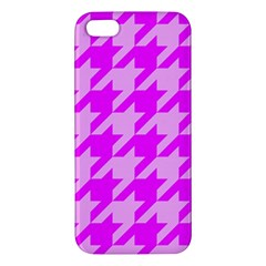 Houndstooth 2 Pink iPhone 5S Premium Hardshell Case