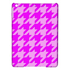 Houndstooth 2 Pink iPad Air Hardshell Cases
