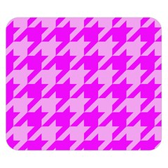 Houndstooth 2 Pink Double Sided Flano Blanket (Small)