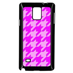 Houndstooth 2 Pink Samsung Galaxy Note 4 Case (black)