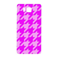 Houndstooth 2 Pink Samsung Galaxy Alpha Hardshell Back Case