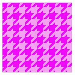 Houndstooth 2 Pink Large Satin Scarf (Square)
