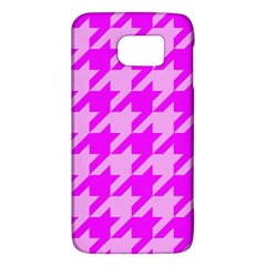 Houndstooth 2 Pink Galaxy S6