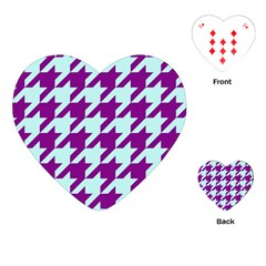 Houndstooth 2 Purple Playing Cards (heart)