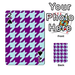 Houndstooth 2 Purple Playing Cards 54 Designs
