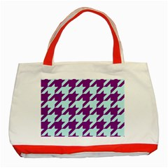 Houndstooth 2 Purple Classic Tote Bag (Red)