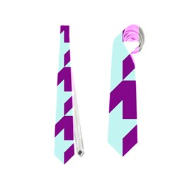 Houndstooth 2 Purple Neckties (one Side)