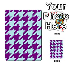 Houndstooth 2 Purple Multi Purpose Cards (rectangle)