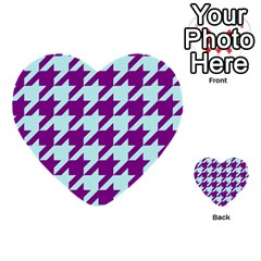 Houndstooth 2 Purple Multi-purpose Cards (Heart)