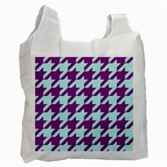 Houndstooth 2 Purple Recycle Bag (One Side)