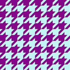 Houndstooth 2 Purple Magic Photo Cubes