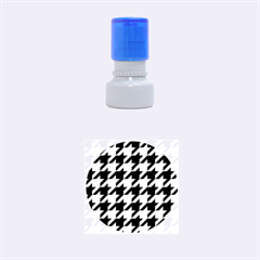 Houndstooth 2 Purple Rubber Round Stamps (small)