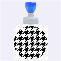 Houndstooth 2 Purple Rubber Round Stamps (large)