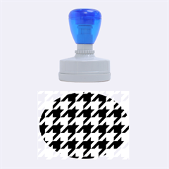 Houndstooth 2 Purple Rubber Oval Stamps