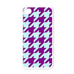 Houndstooth 2 Purple Apple iPhone 4 Case (White)