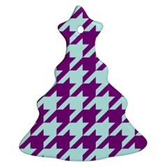 Houndstooth 2 Purple Ornament (christmas Tree)