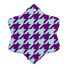 Houndstooth 2 Purple Snowflake Ornament (2 Side)